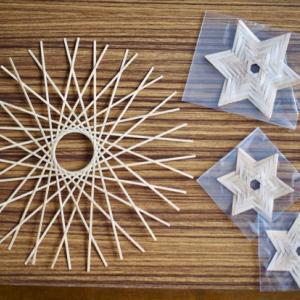 竹細工、星のほう
