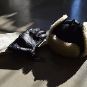 "COOTIE ""Corduroy Bomber Cap""&""Fam+ilia Leather Glove""【おしゃれ】【防寒 グッズ】"