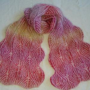 ブリオッシュ編みのストール 2