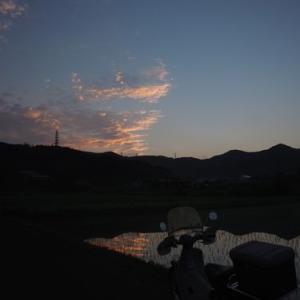 雲があると、朝陽が反射してとてもきれいな風景を演出してくれますな