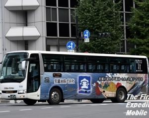 【ラッピング解除】千葉交通・53-13(宝醤油)