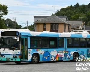 【ラッピング解除】千葉交通・17-63(成田市・うなりくん)
