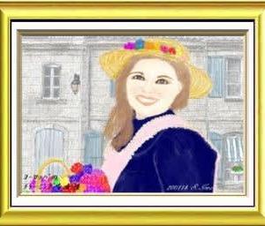 PCでお絵描き(2019-12月課題 'ヨーロッパで出会ったチャーミングな女性' )-260