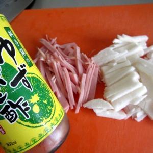 簡単切るだけ混ぜるだけ長芋ハムの1品 酢の物またはハム前菜