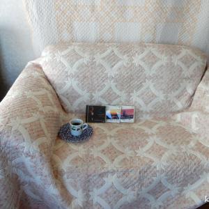 春色のソファーカバー
