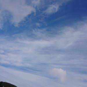 今日ε=┌( ・д・)┘奥日田(釈迦岳)の空