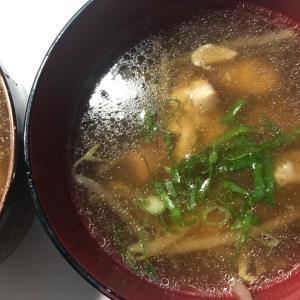 鶏肉ともやしのスープ