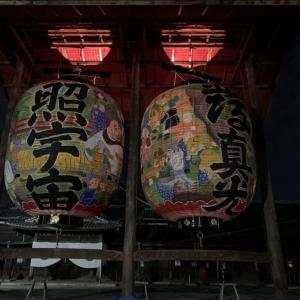 豊川稲荷秋季大祭の夜のライトアップ