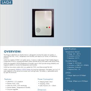 LoRaWAN対応室内エアークオリティ・センサノード - LQA4をリリース!
