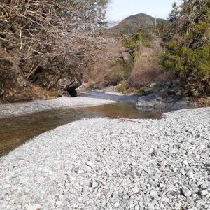 今季の初渓流 初場所 大芦川
