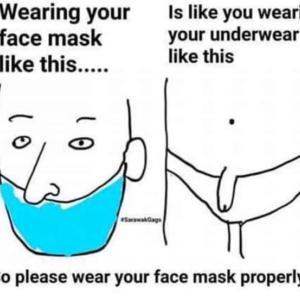 マスクの付け方!