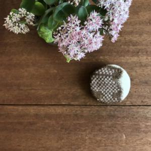 9/21 雨久花 ... セダムの苔玉と満月ブローチ