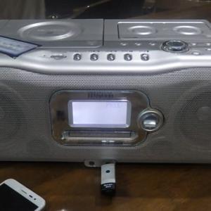 古いラジカセでネットラジオを聴くのだ!