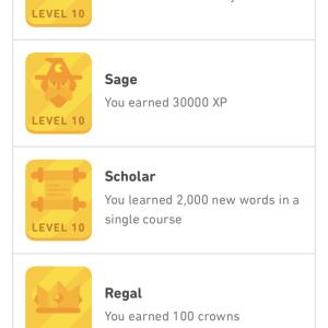 Duolingoアチーブメントコンプリート