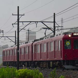 雨の中の養老鉄道・・