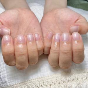 小さく丸い爪から縦長のお爪になる方法!