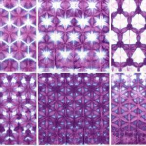 正三角形畳みを染める…練習の報告