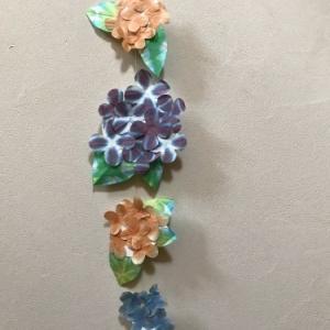 紫陽花飾りを手づくり…中川政七商店のインスタグラムを見て