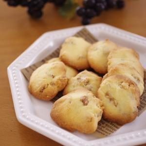 混ぜて簡単、食べやすいクルミ入りサクほろクッキー☆甘さ控えめ