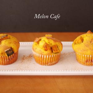 簡単カボチャマフィン☆ホットケーキミックスで作る、パン寄りのマフィン