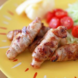 簡単、がっつり♪豚バラ肉の巻き焼き☆時短、節約、ご飯にあう肉のおかず!