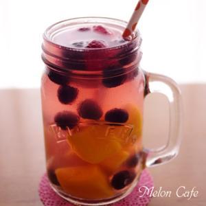 冷凍フルーツでフルーツビネガーウォーター☆くらしのレシピ掲載ありがとうございます