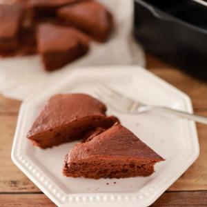 ホットケーキミックスで簡単おやつ「ダブルチョコレートケーキ」☆レシピブログのエアーオーブンで様々なお料理を作ろう♪モニター参加レシピ