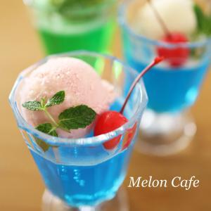 しゅわっと簡単♪クリームソーダゼリー☆かき氷シロップで、ひんやりおやつ