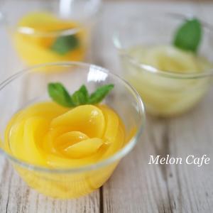 簡単、モモの缶詰で!花咲くフルーツゼリー☆シンプルなレシピで可愛いスイーツ