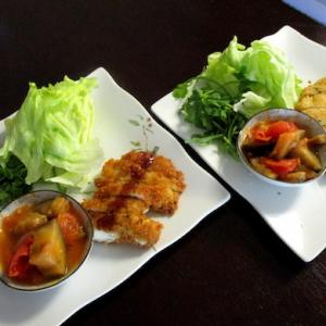 chicken cutlet + ratatouille