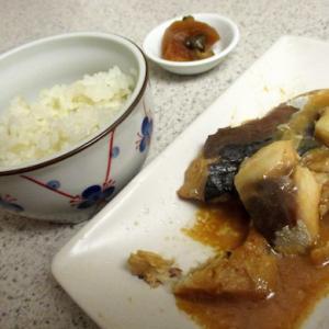 鯖の味噌煮(日本からのレトルト)