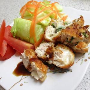 鶏ムネ肉の大葉チーズ挟み揚げ