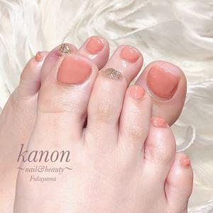 美肌に魅せるカラーでフットネイル…福山市ネイルkanon