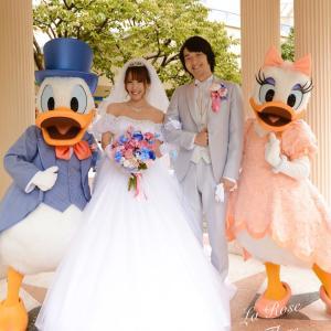 花嫁様からのお写真 ディズニーアンバサダーホテル挙式 クラッチブーケ