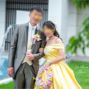 花嫁様からのお写真 リースブーケ&ヘアピンのセット