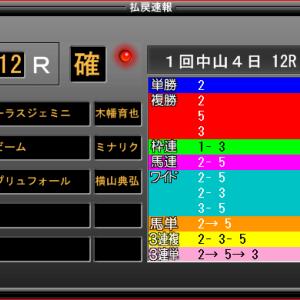 ★中山12R-ワイド高額W的中