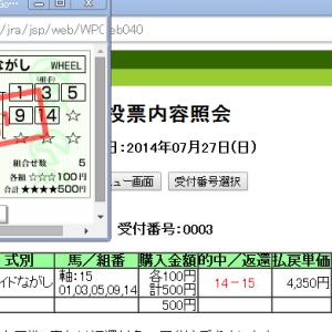 ★中京記念 ワイド43.5倍的中(久々うp)