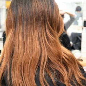 カラーチェンジと髪質改善トリートメントスパ