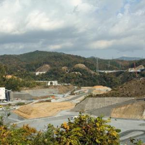 安威川ダム建設工事現場ぶらり