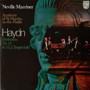 マリナー/アカデミー室内管の交響曲52番、53番「帝国」(ハイドン)