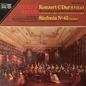 オラ・ルードナー/アントルモン/ウィーン室内管のヴァイオリン協奏曲など(ハイドン)