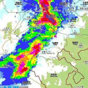 【多摩天気情報】ゲリラ豪雨