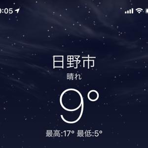 寒い夜 日野市万願寺までドライブへ