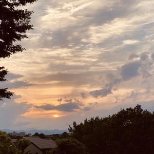 八王子別所公園の夕景とデルパラ