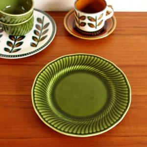 深緑がきれいなヴィンテージのbochデザート皿が入荷しました