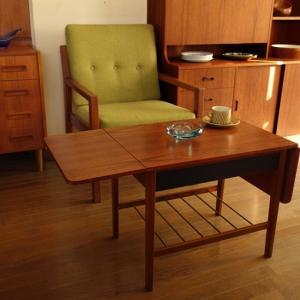 ワンルームにも置ける格好いい家具。北欧ヴィンテージ・バタフライテーブル