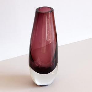 渋め紫が格好いい*北欧ヴィンテージのガラスベース