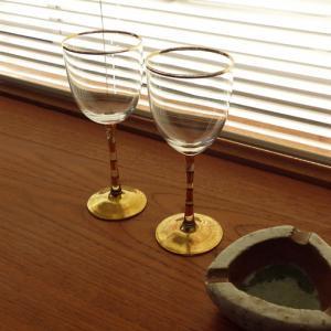アンティークゴールド色が格好いいヴィンテージグラス