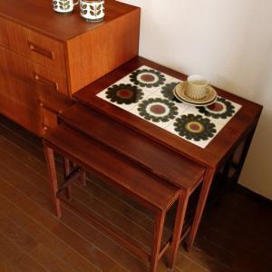 妙に懐かしい感じ。北欧ヴィンテージ・タイルのネストテーブル