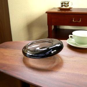 ヴィンテージのHolmegaard製グレーのガラス灰皿